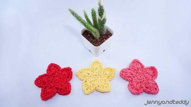 Easy Crochet Star Applique Free Crochet Pattern Jennyandteddy