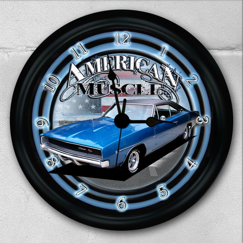 1968 Dodge Charger Rt Wall Clock Muscle Car 68 Teenage Boy