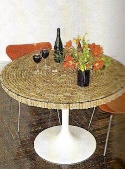 Cool DIY wine cork table top Corks Pinterest Wine cork table