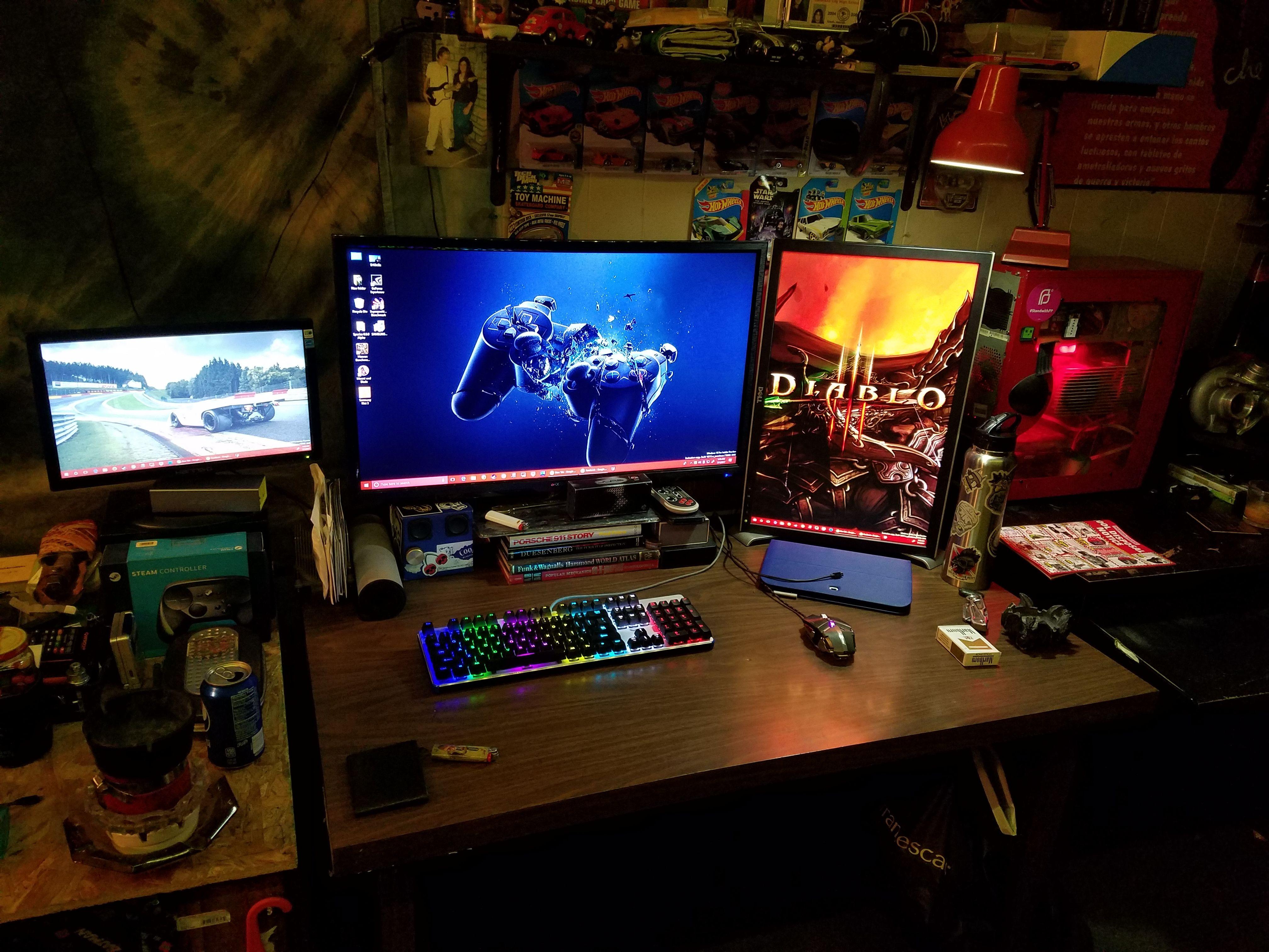 Trying A New Setup 3 Desks Consumed Setup Battlestation Home Office Setup