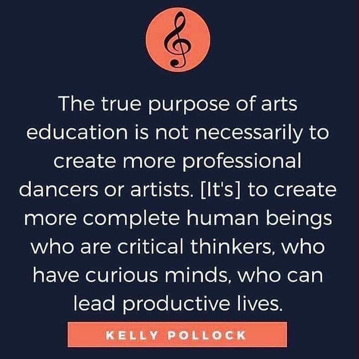 Great Quote In Support Of Arts Education From Kelly Pollock Quotes