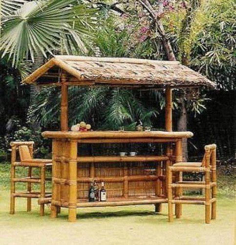 Would love an outdoor tiki bar! - Would Love An Outdoor Tiki Bar! Bamboo Pinterest Bamboo