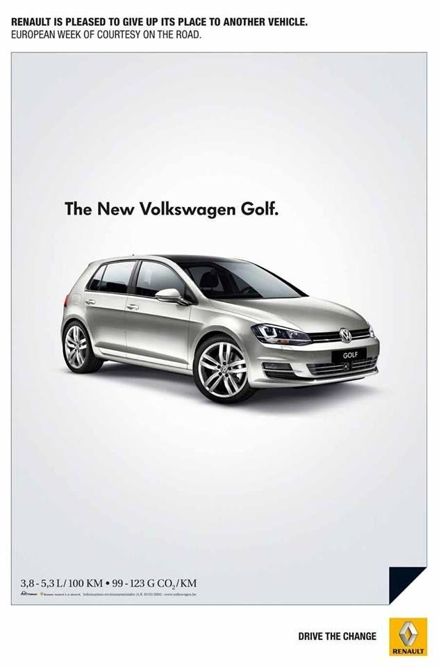 Con motivo de la semana del respeto en carretera, Renault tuvo la idea de hacer publicidad a su competencia. C'est très classe !