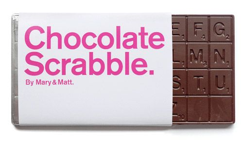 "Chocolate Scrabble - I ca see it now...  ""I challenge, your word is misspelled and missin an e.."""
