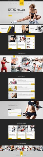 Sport Trainer  Boxing Yoga and Crossfit Trainer WordPress Theme - Fitness Shirts - Ideas of Fitness...