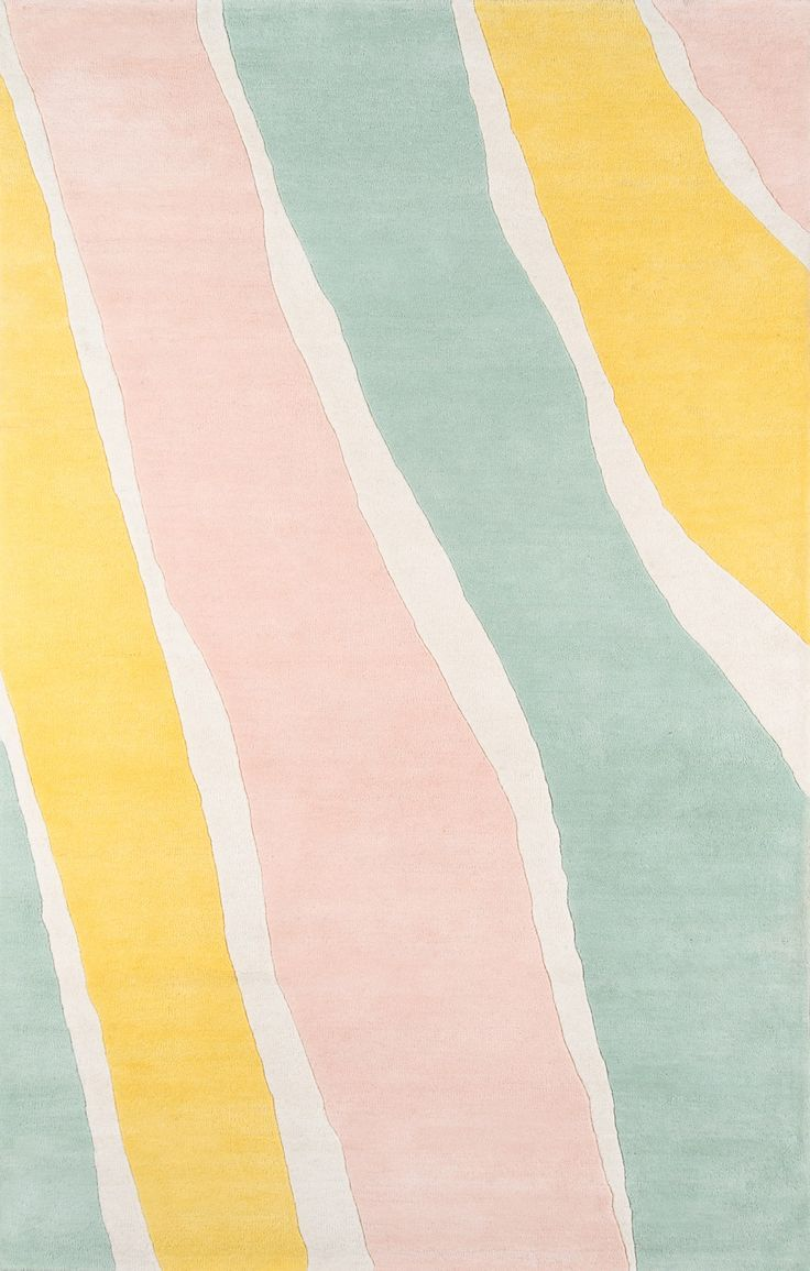 Featuring an eclectic pattern and pastel tones, the Tamryn Rug is perfect for any modern inspired space needing some color. #pastelpattern