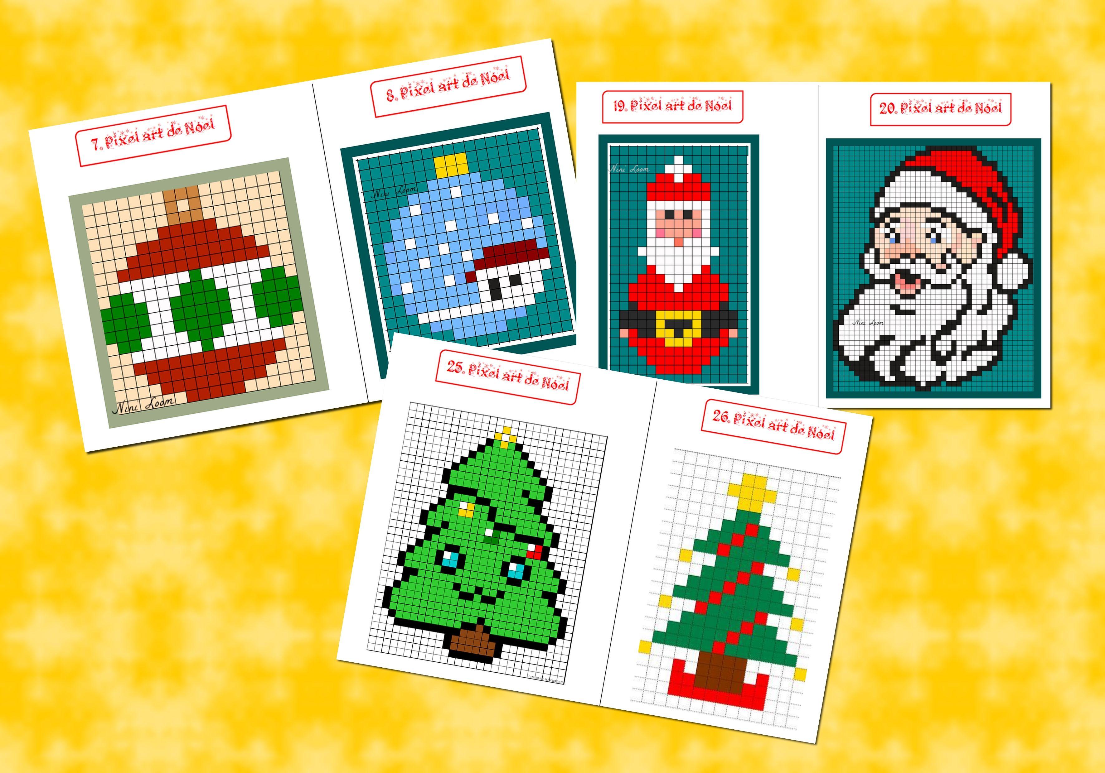 Pixel Art De Noël éducation Gestuelle Pixel Art Noel