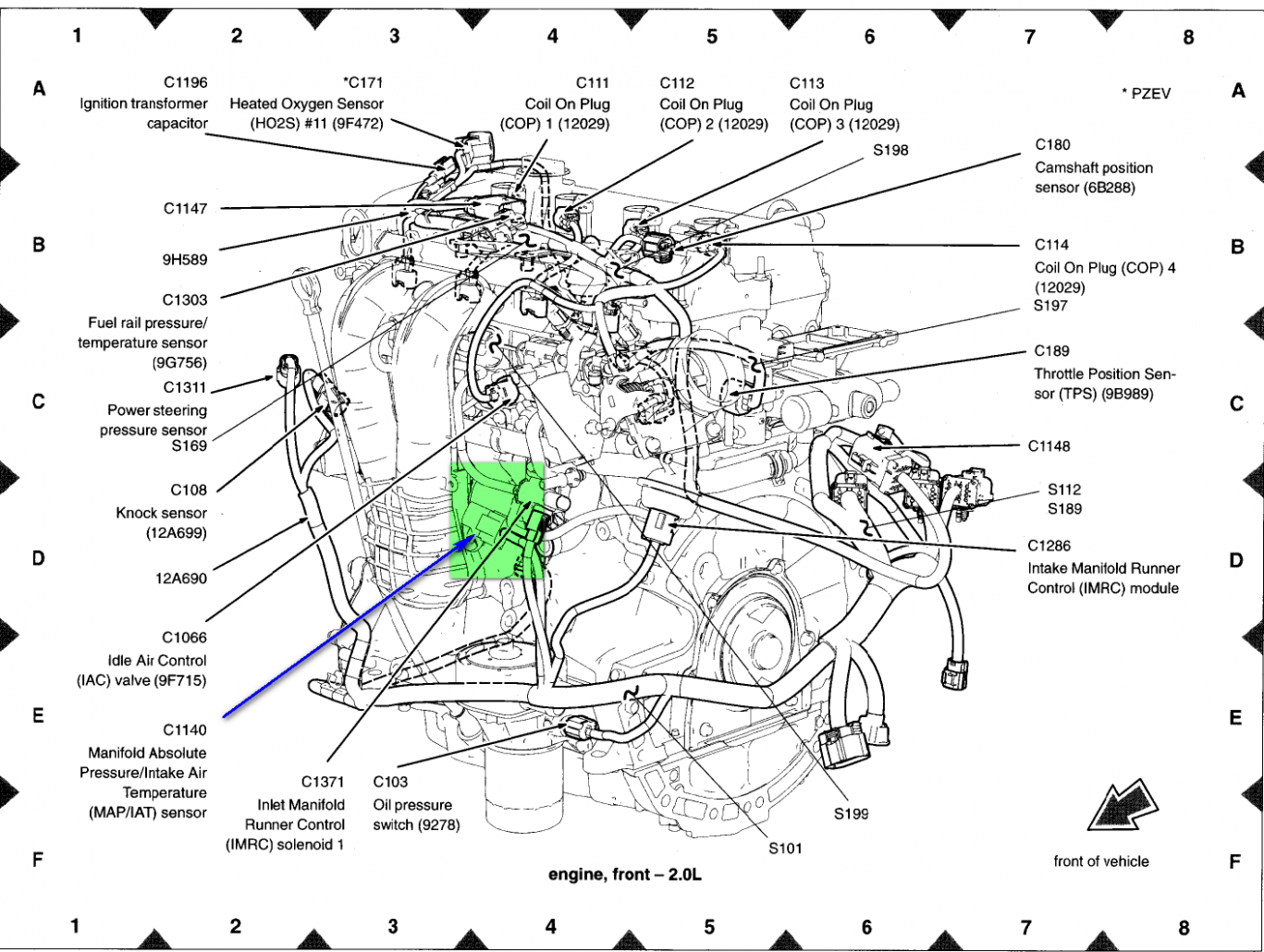 Where can i locate the iat sensor on my6 ford focus st