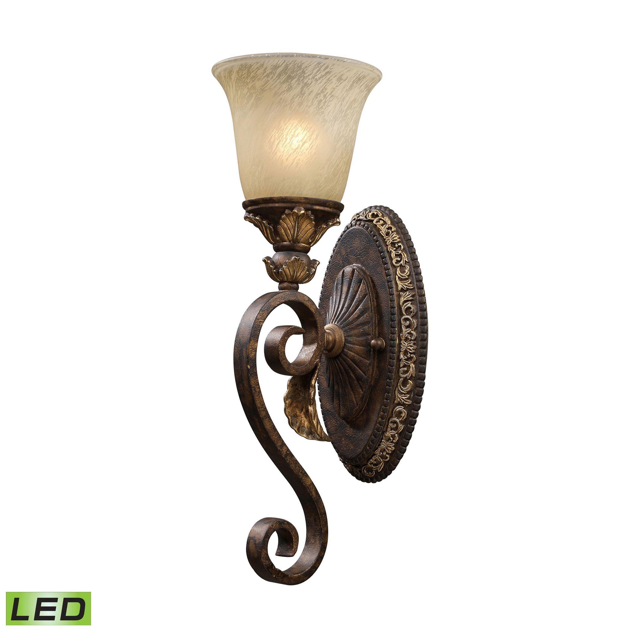 Elk Lighting Regency 1 Light Vanity 2150-1 Burnt Bronze Gold Leaf
