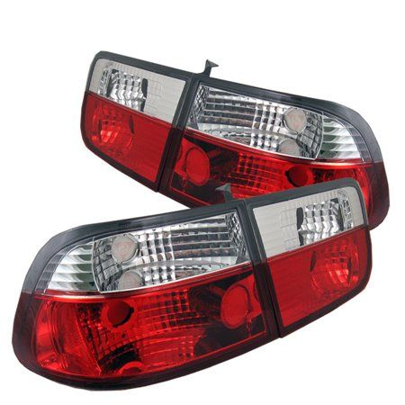 Spyder Honda Civic 96 00 2dr Crystal Tail Lights Red Clear