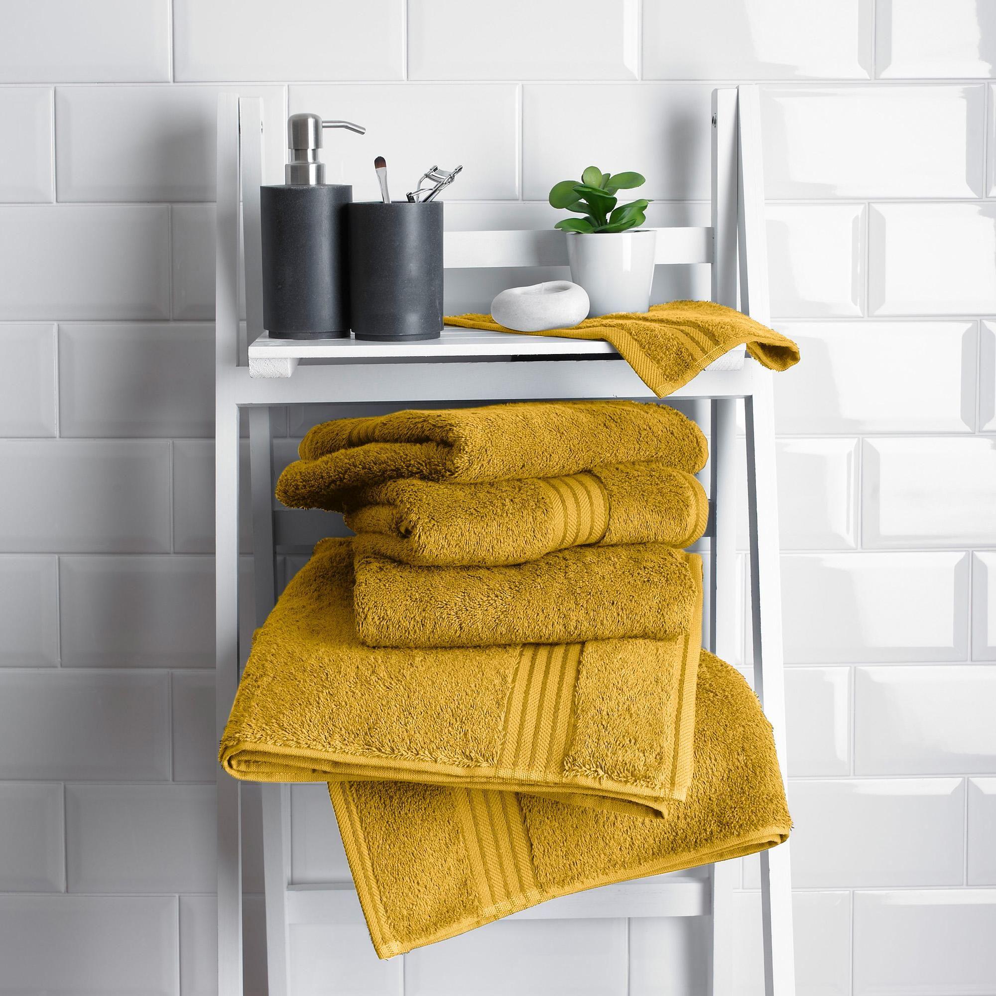 Dunelm Egyptian Cotton Towel Plain Mustard Yellow Egyptian Cotton Towels Cotton Towels Towel