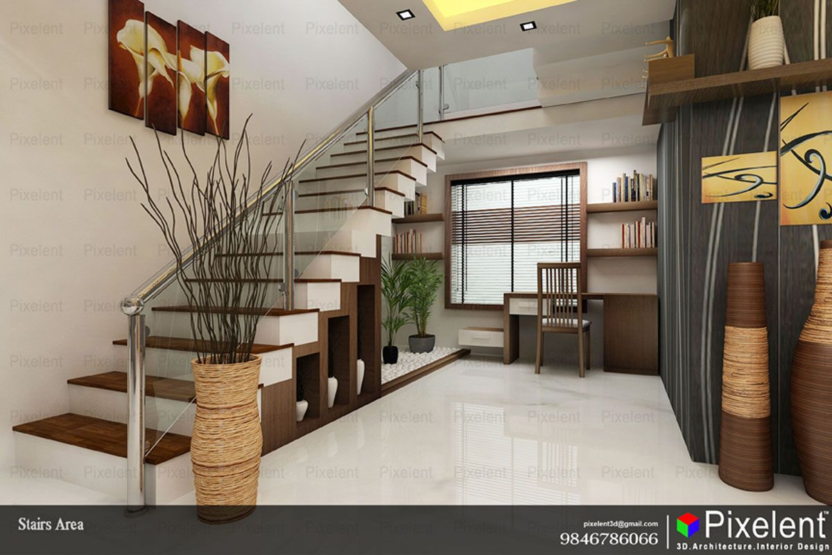 Best 3D Interior Designs By Pixelent Stairs Area 3D 640 x 480