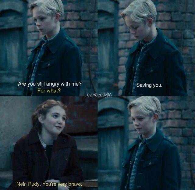 Liesel Meminger And Rudy Steiner From The Book Thief Movie