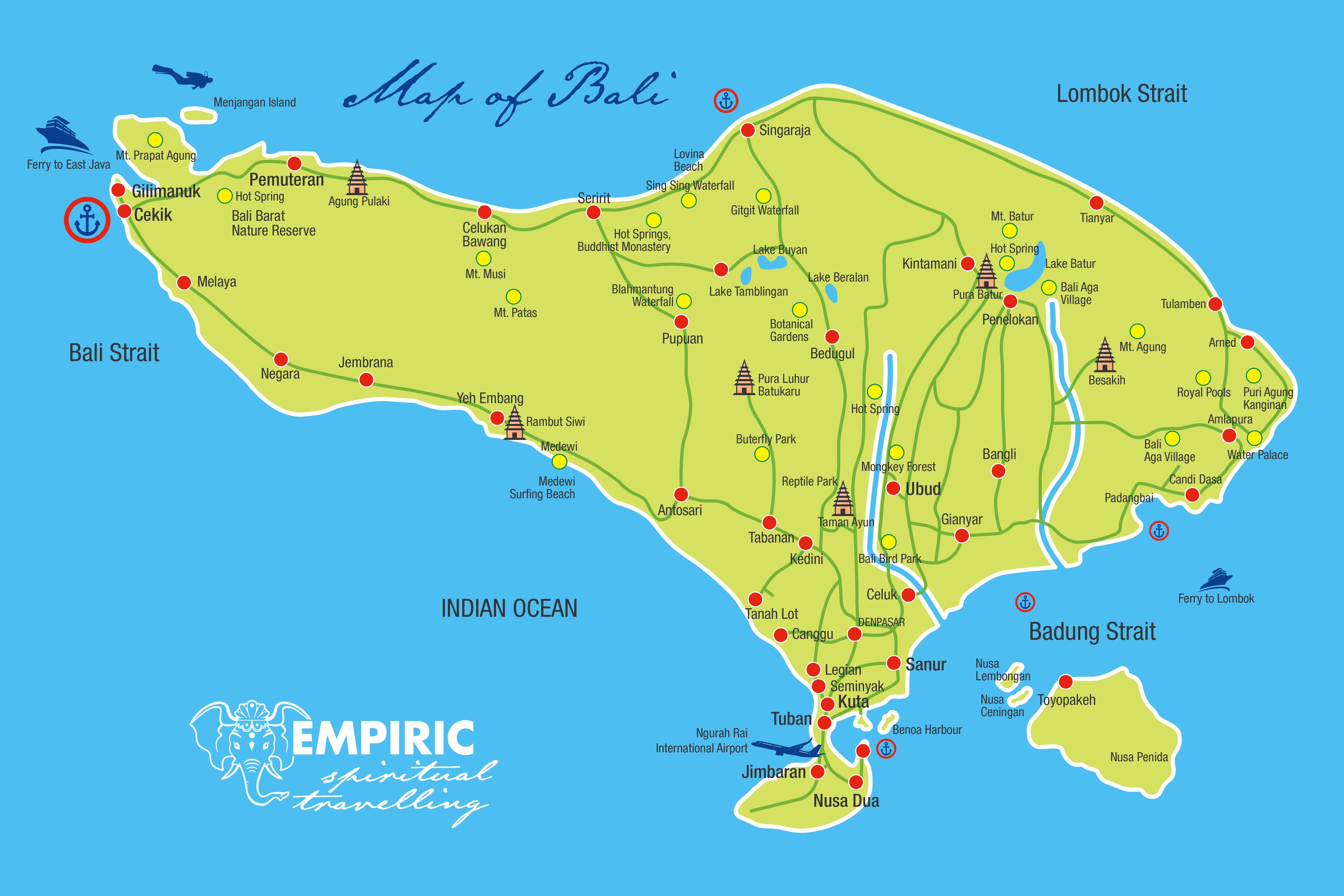 Map Of Bali Bali Maps Tourist Map Bali Ubud