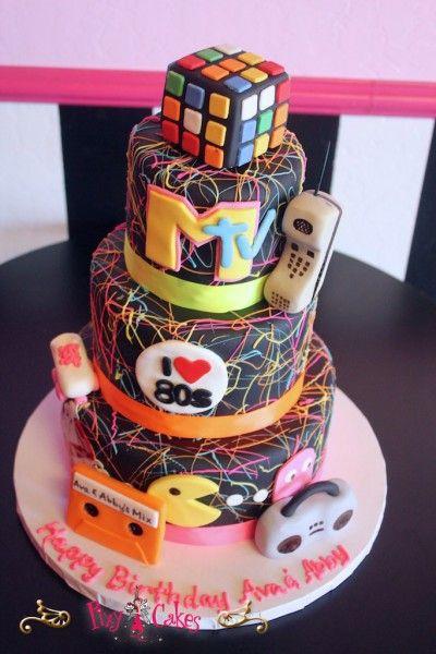 Miraculous Love The 80S Birthday Cake By Pixy Cakes Avondale Phoenix Funny Birthday Cards Online Benoljebrpdamsfinfo
