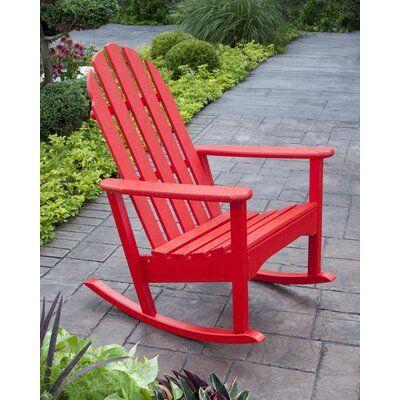 Polywood Rocker Plastic Rocking Adirondack Chair Color Sunset
