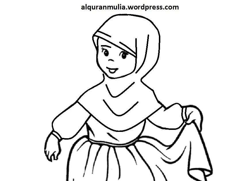 Wow 30 Gambar Kartun Muslim Mewarnai Di 2020 Dengan Gambar