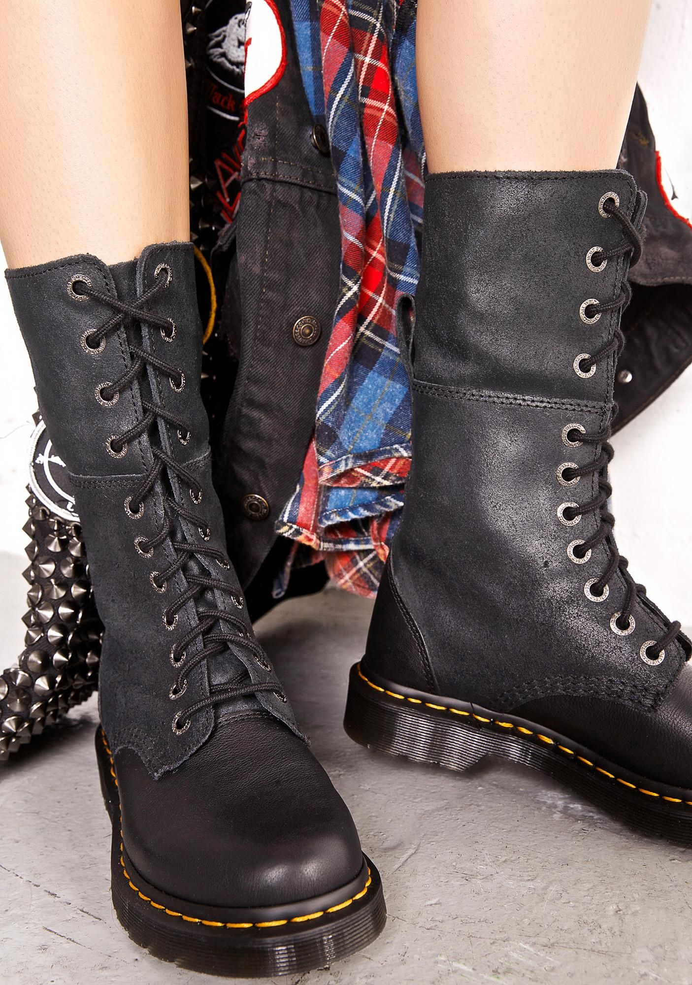 Dr. Martens Hazil Tall Slouch Boots cuz yer a wanderin' soul, and need