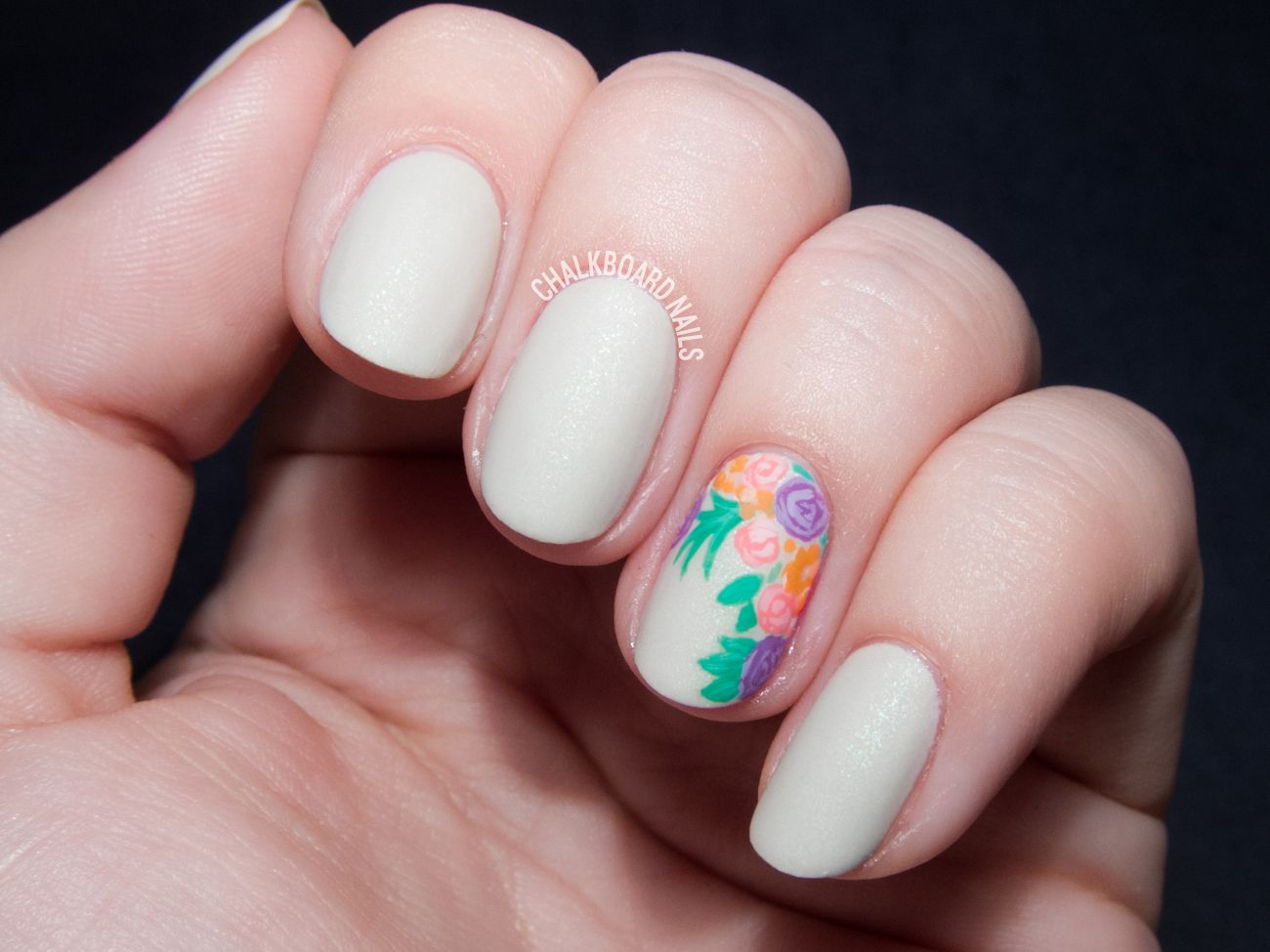 Photo of Bouquet Accent Nail with OCC Cosplay Nail Polish – Nail Design | Designnagel.com