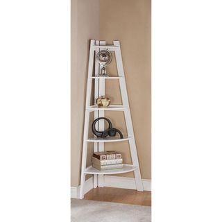 Furniture Of America Kiki 5 Tier Corner Ladder Display Bookcase Black