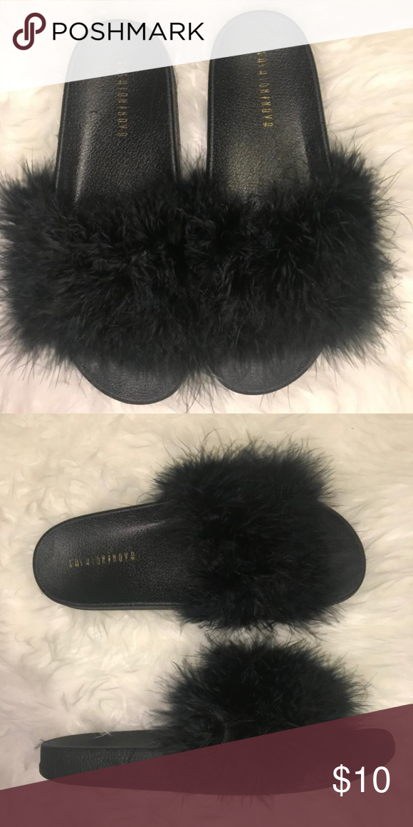 8e2fe484dde Fuzzy Faux Fur Slides Faux Fur Brand New with Box Fashion Nova slides  Fashion Nova Shoes Sandals