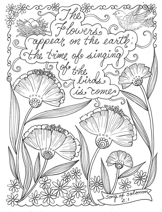 Scripture Garden Coloring Book Christian By ChubbyMermaid