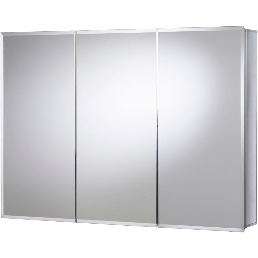 Jacuzzi 36 In X 26 In Rectangle Surface/Recessed Mirrored Aluminum Medicine  Cabinet Pd48000