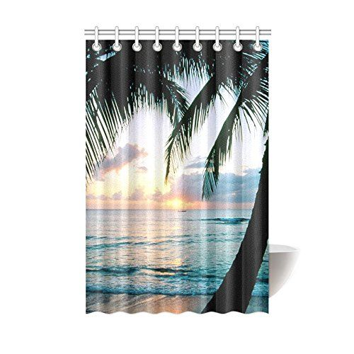 Novelty Design Beautiful Scenery Sunset Shower Curtain 48