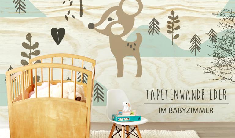 Babyzimmer mit Tapeten Wandbildern gestalten bei