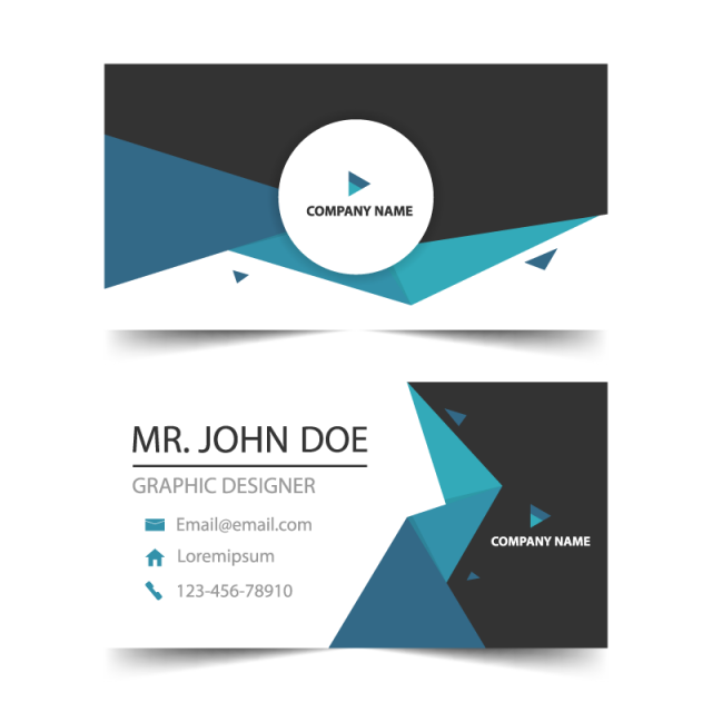 Business Card Template Design Vector Geometric Graphic