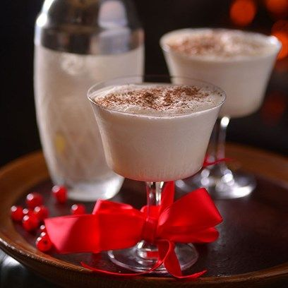 Champagne Eggnog Champagne, Cocktail recipes and Cacao recipes - bar manager