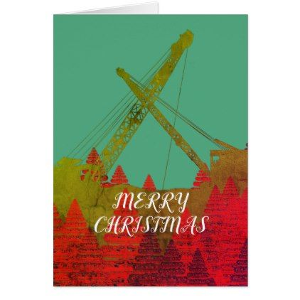Northwest crane operating engineer art christmas card reheart Images