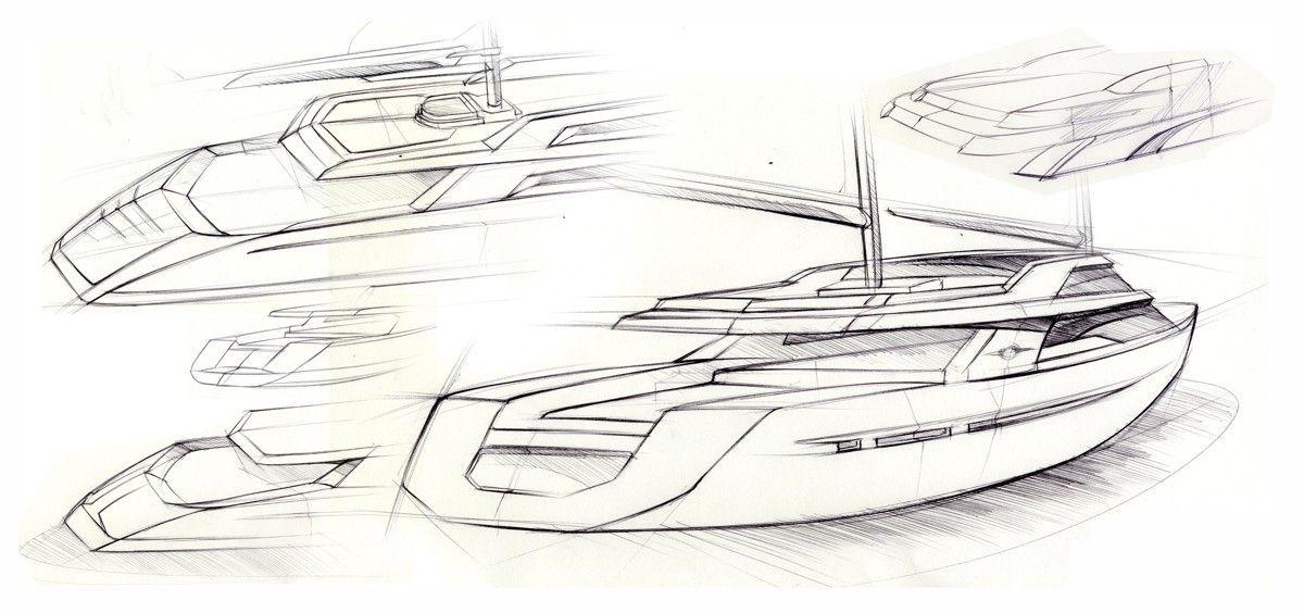 superyacht sketches