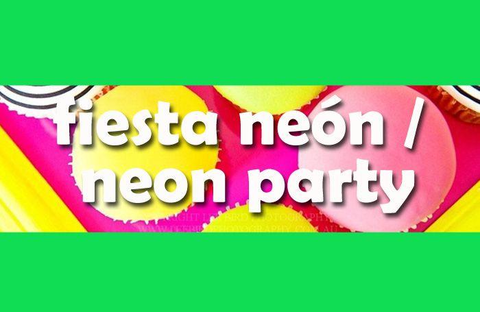 Título fiesta neón / Title neon party