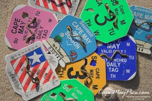 Image Photo Photograph Pic Picture Of Beach Tags From Cape May New Jersey