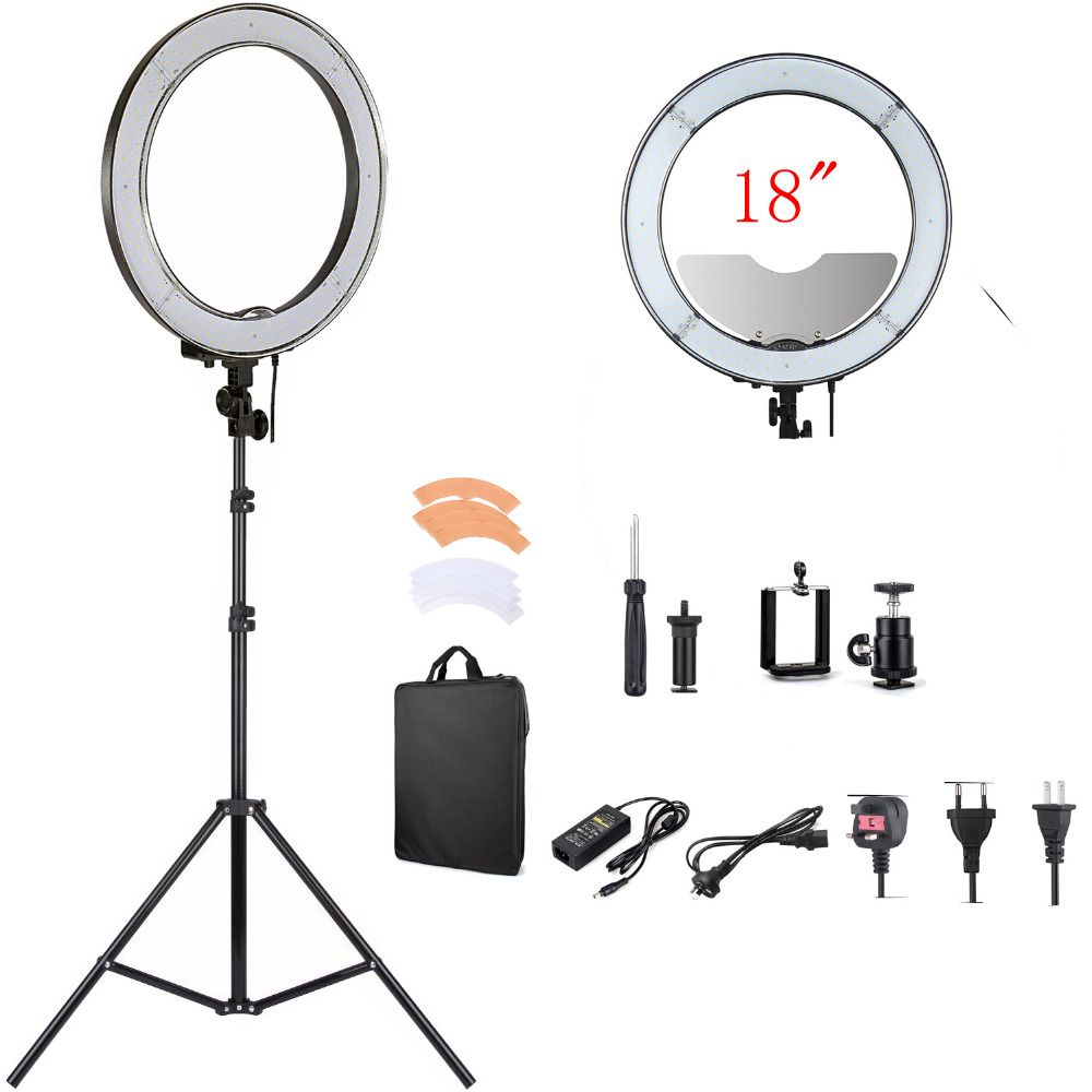 Click to buy fotopal camera photostudiophonevideo rl 18 55w led light photo directly from china video light suppliers fotopal 18 inch dimmable led photo studio mini camera selfie ring video light annular lamp parisarafo Choice Image