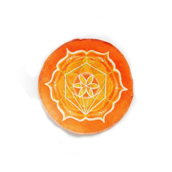 Sacral Chakra Patch  Flower of Life  Sacred by FractalLotus