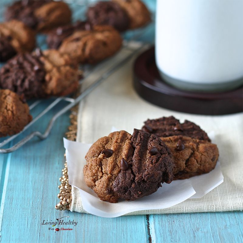 Soft-baked and completely irresistible Two-toned Chewy Cookies. Swirled with a white and dark chocolate dough, and filled with sweet chocolate chips! Paleo!