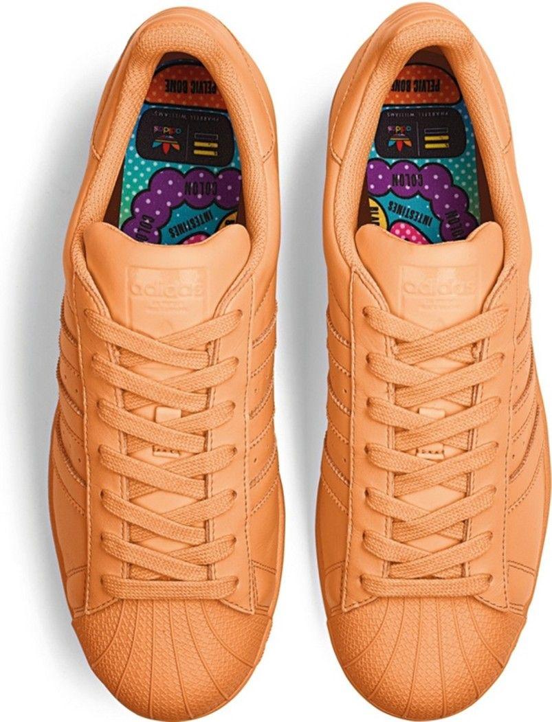 best cheap e6c3b 28f1a Énormes économies Homme Adidas X Pharrell Williams Superstar Supercolor  chaussures Pumpkin S