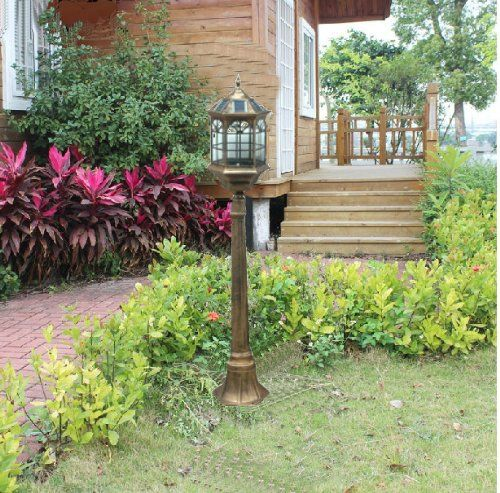 4 3 Foot Outdoor Solar Powered Lamp Post With Led Lights Sl 6801bronze1 3m Kendal Http Www Amazon Com Solar Lamp Post Solar Powered Lamp Outdoor Solar Lamps
