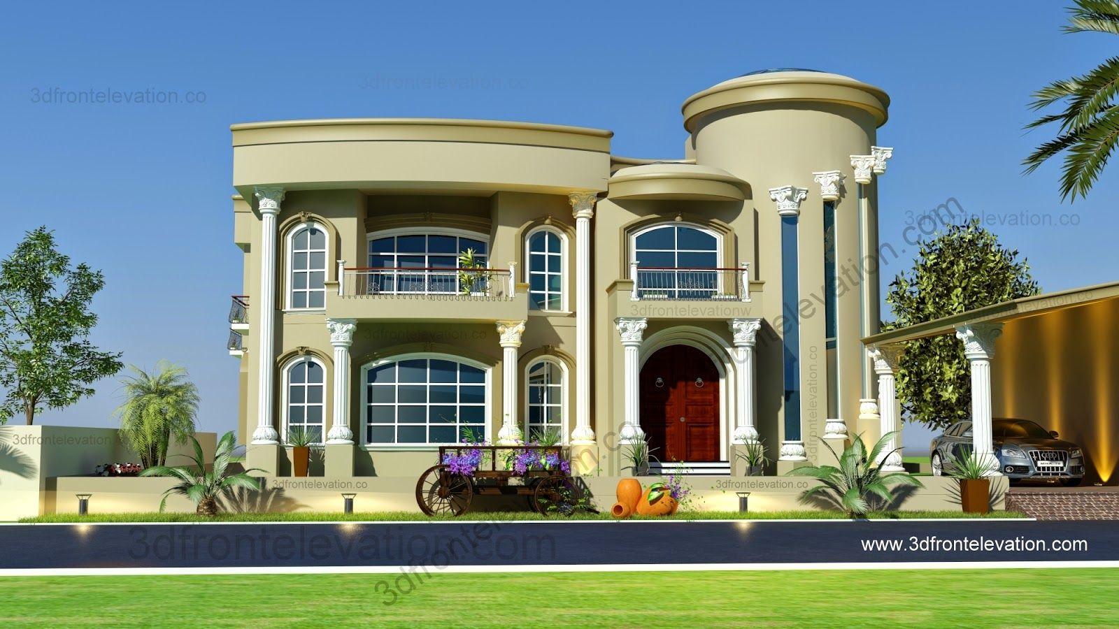 Beautiful Modern Arabic Villa Design 2020 3d Front Elevation Modern Villa Design Villa Design House Plans Mansion
