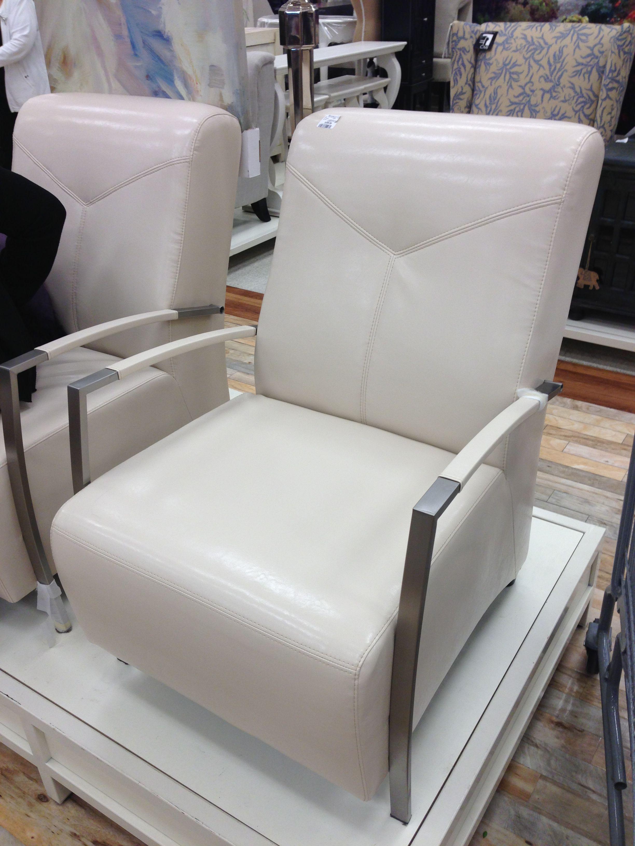 OffWhite Leather Accent Chair HomeSense Canada Decor