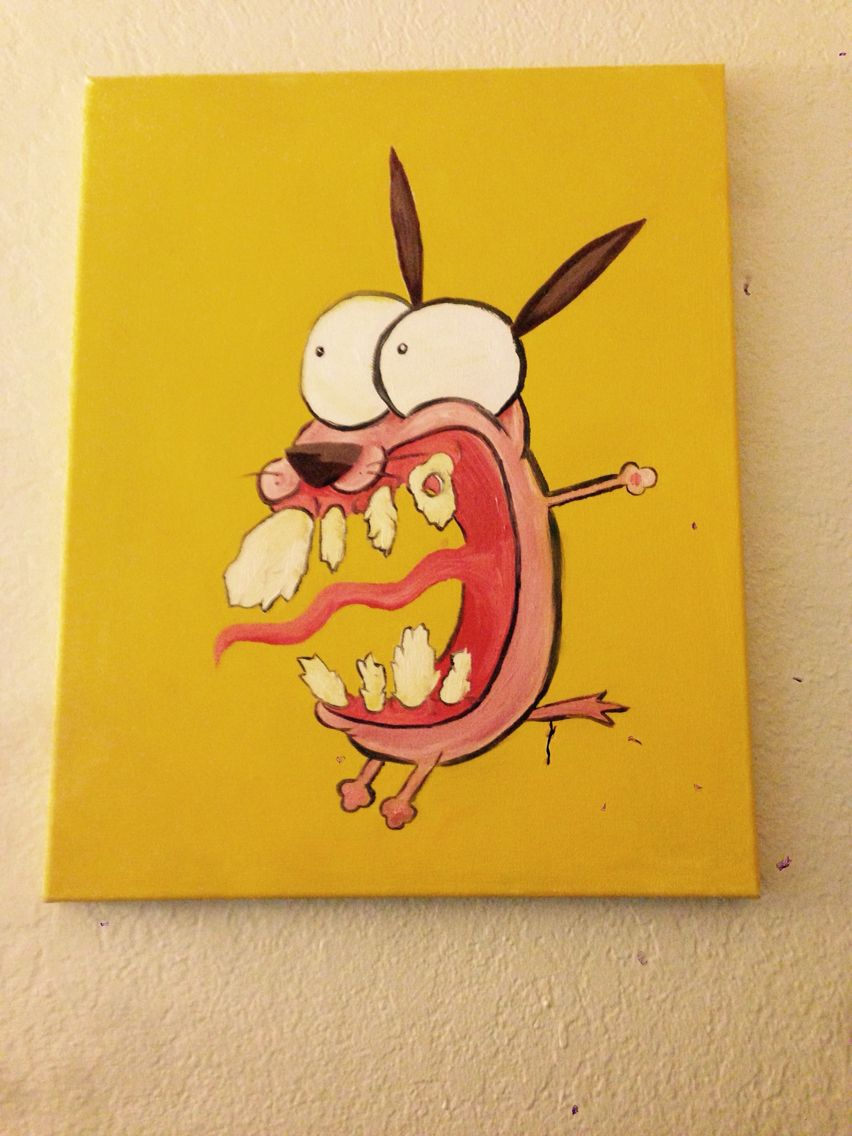 Courage The Cowardly Dog Painting Art In 2019 Painting Art