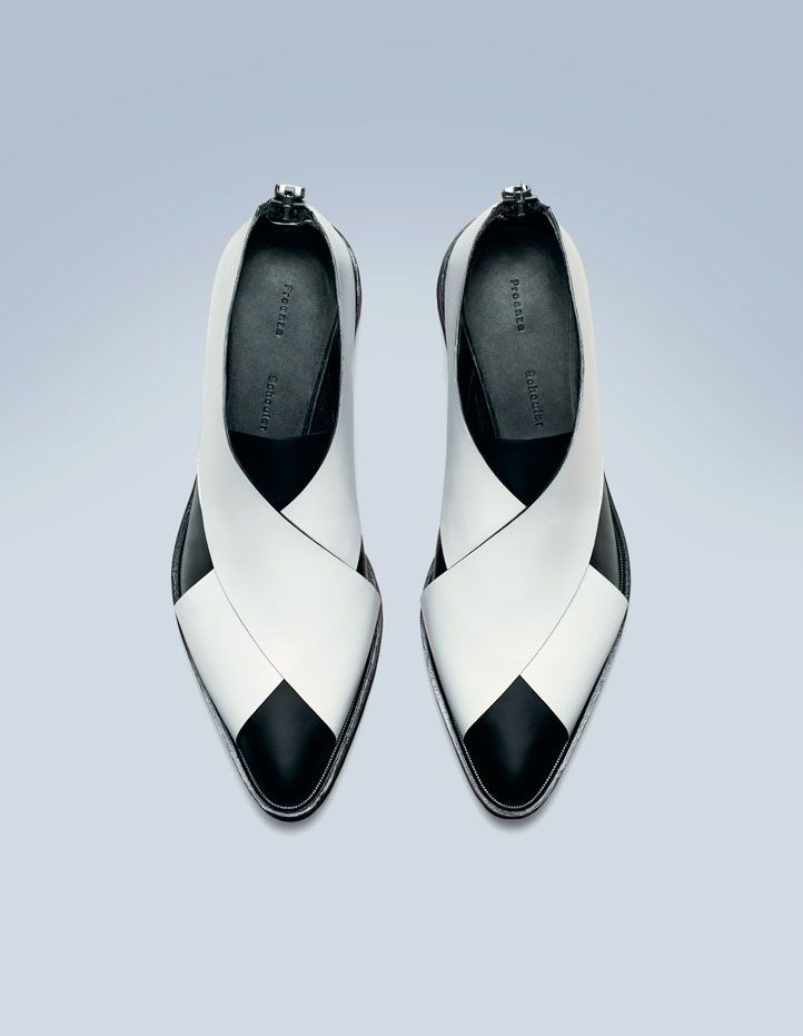 PROENZA SCHOULER Whiteblack leather flat | SHOESto KNOW