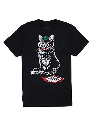 DC Comics Batman The Joker Cat T-Shirt, BLACK