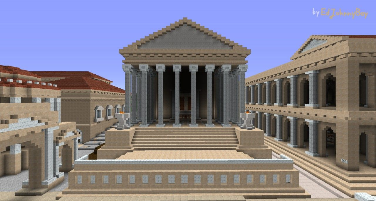 Ejbs Temple Of Castor And Pollux Roman Building Minecraft