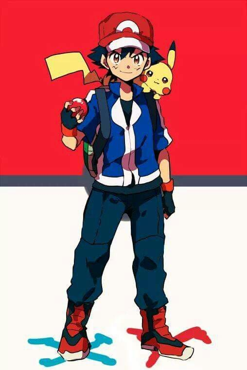 ash ketchum and pikachu i give good credit to whoever made