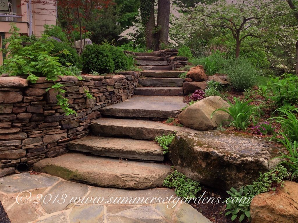 A Rustic Front Yard Entry Garden in Rockland County