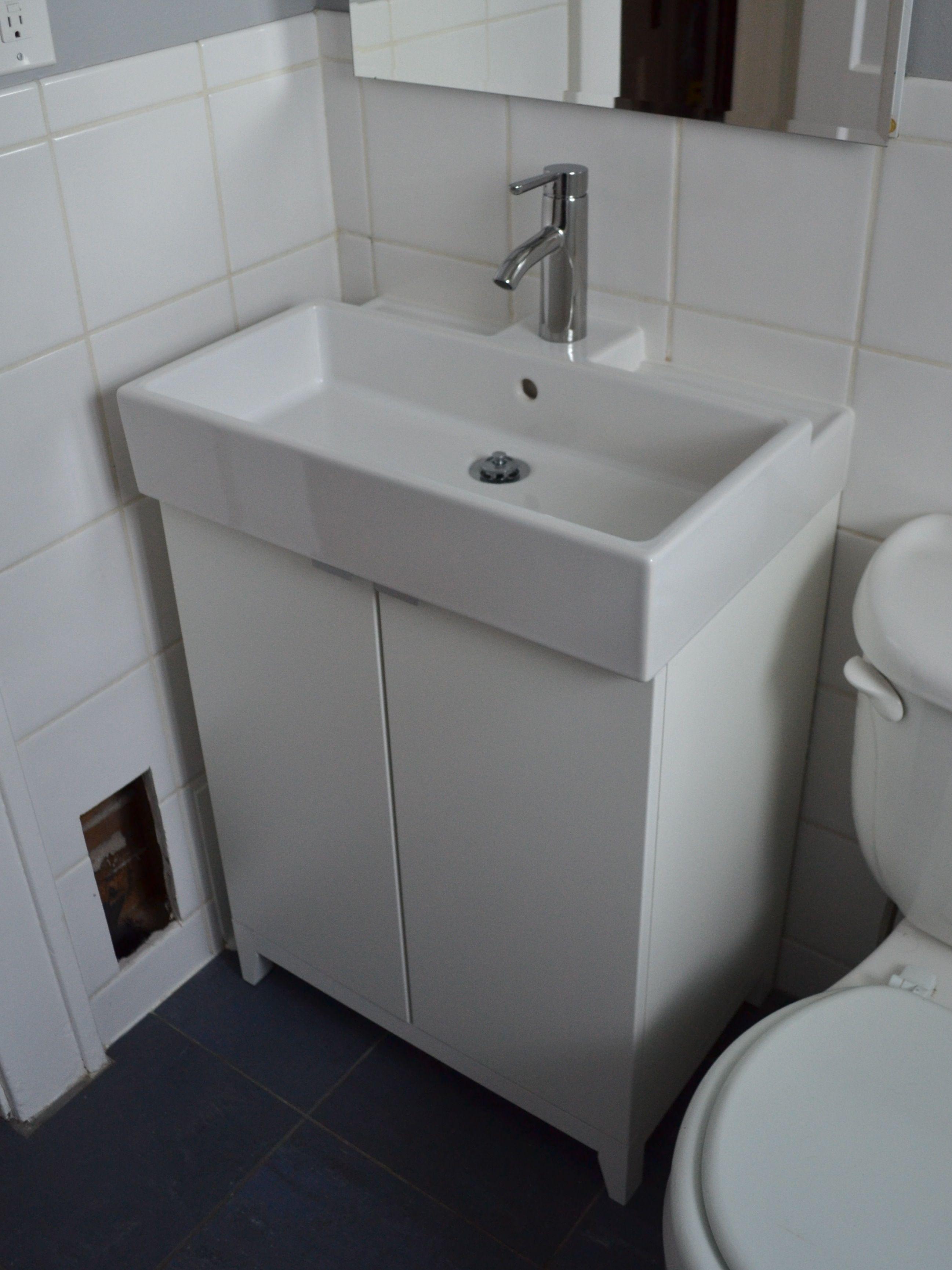 Small bathroom sinks ikea - Ikea Lillangen Sink And Cabinet Ashandorange Wordpress Com