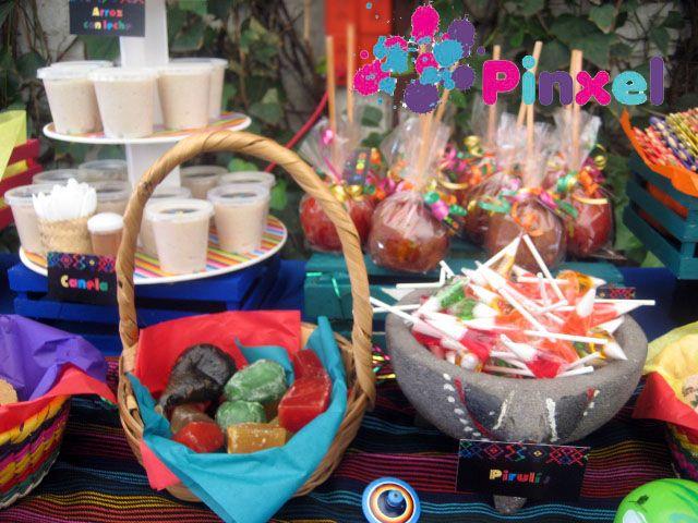 Pinxel decoraci n souvenirs mesa de dulces mexicanos - Decoracion mesas fiestas ...